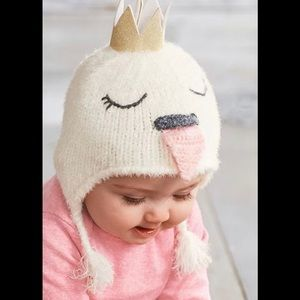 NEW Mud Pie Swan Princess Hat 6-18 mos